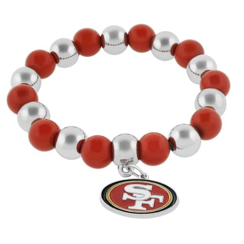 NFL Sports Team Emblem Bead Bracelet Saints