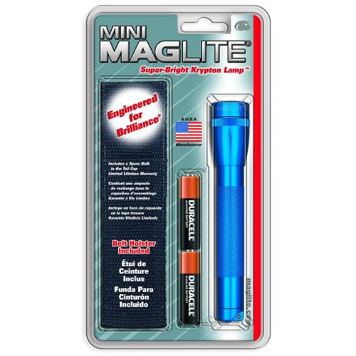 Mag Mini Aa High Intensity Flashlight With Holster - Lamp - Aa - Aluminum - Blue (sm2a11h)