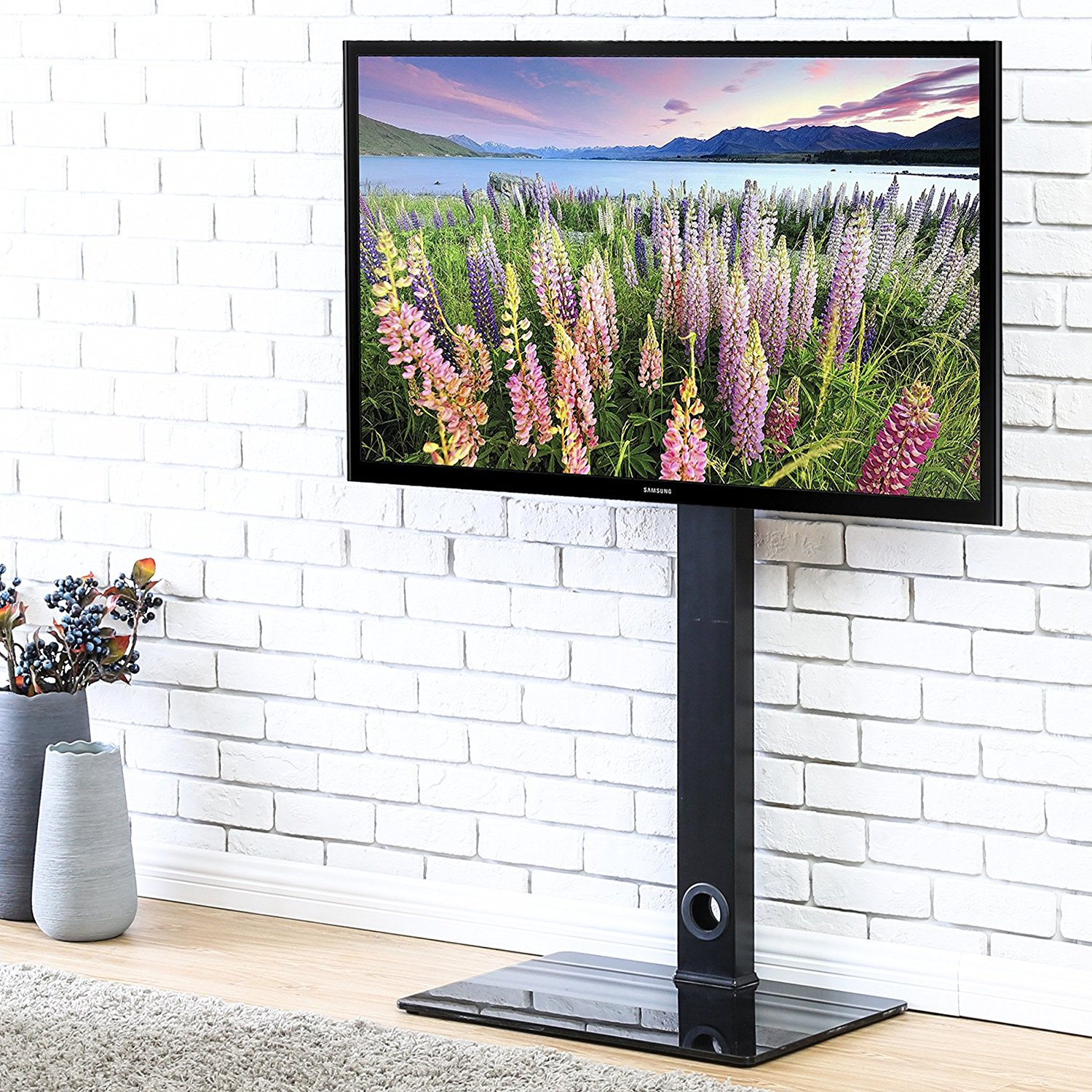 Fitueyes Tv Stand With Swivel Mount For Up To 55 Inch