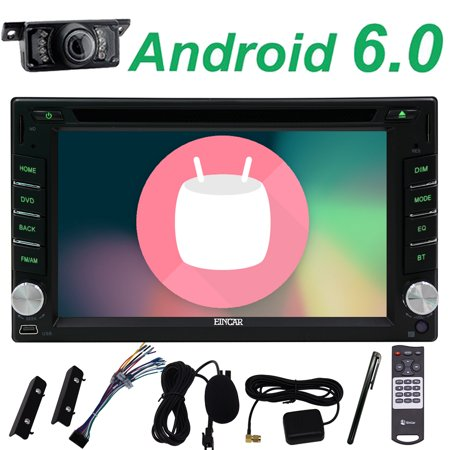 Free camera+New arrival double 2 din 6.2 inch capacitive touch screen Android 6.0 Marshmallow quad core cpu+1G ram+16G rom car stereo gps player universal car stereo in dash car headunit bluetooth gp