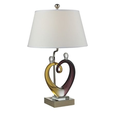 Dale Tiffany Hearts Sculpture Table Lamp Set (Dale Tiffany Garden)
