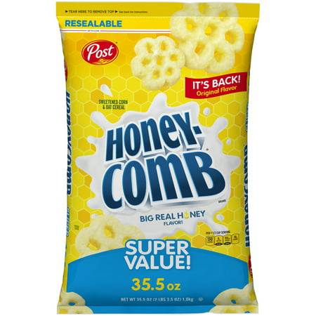 Post Honey Comb Cereal, Original Recipe, 35.5 Oz Bag