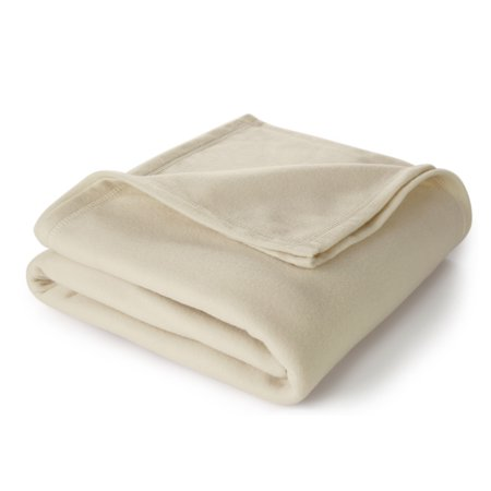 - Martex Super Soft Fleece Blanket, King Ivory