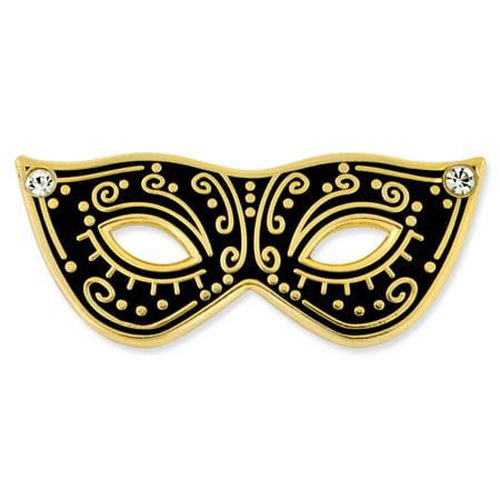 PinMart's Black & Gold Masquerade Mask Party Enamel Lapel Pin](Masquerade Clothes)