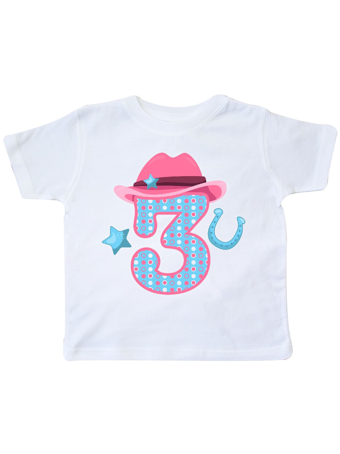 inktastic Little Cowgirl 3rd Birthday Toddler T-Shirt