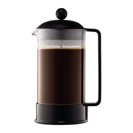 - Bodum BRAZIL French Press Coffee Maker, 12 Cup, 51 Oz, Black