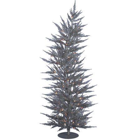 Vickerman 3' Silver Laser Artificial Christmas Tree with 50 Clear Lights