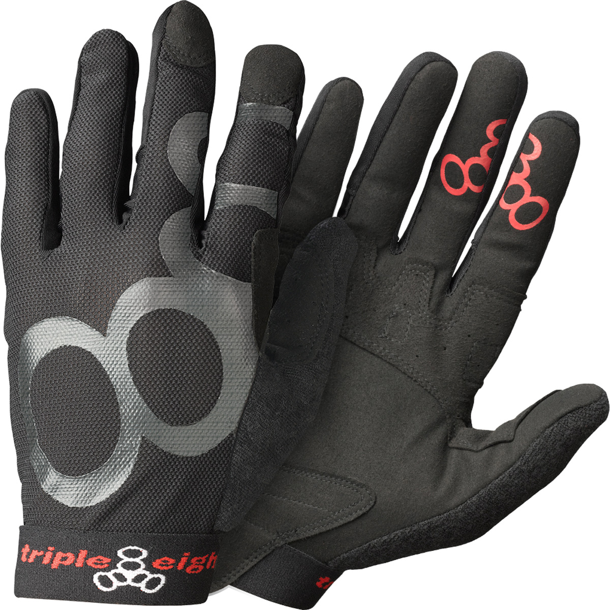 Triple Eight ExoSkin Full Finger Gripper Gloves
