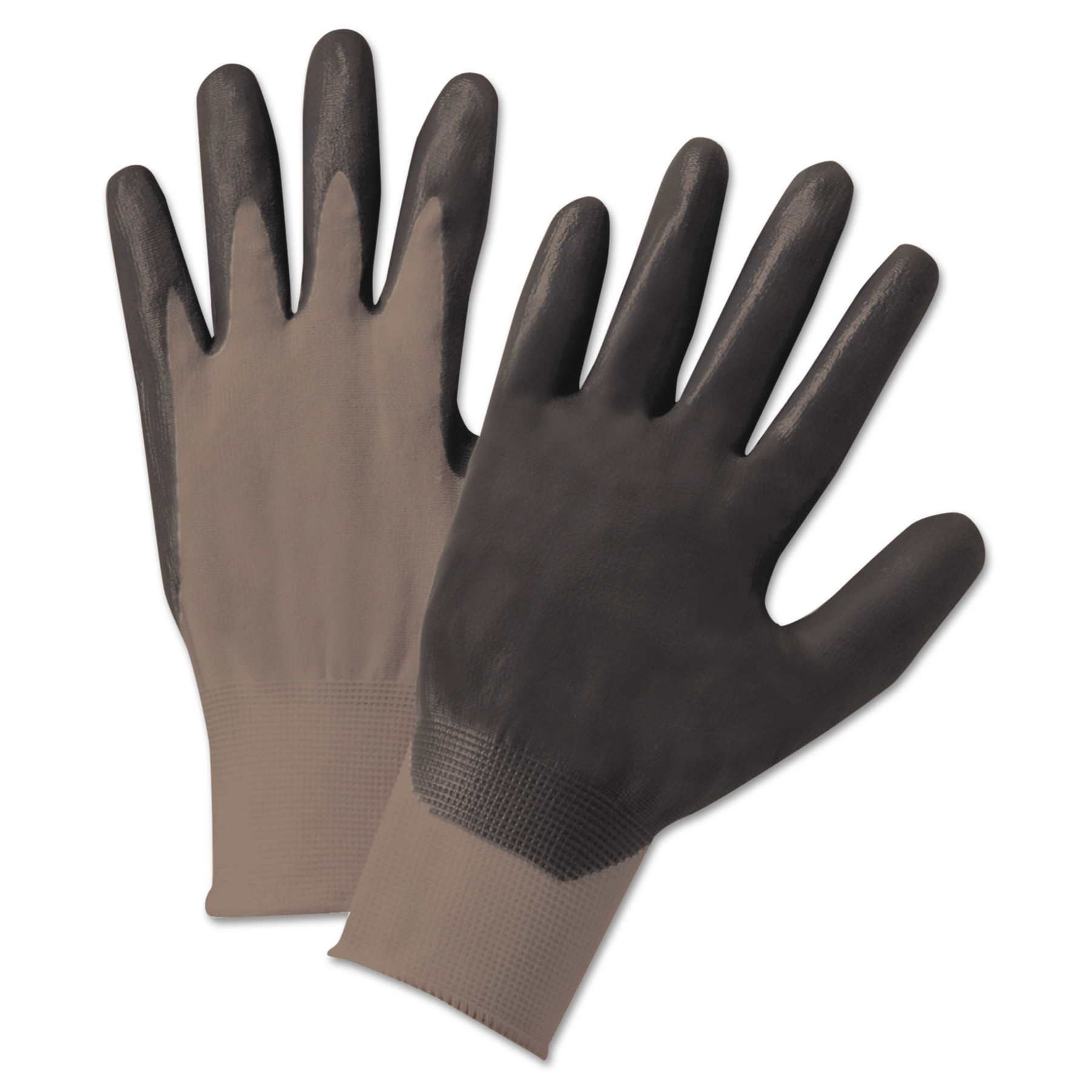 Anchor Brand Nitrile Coated Gloves, Dark Gray, Nylon Knit, X-Large, 12 Pairs