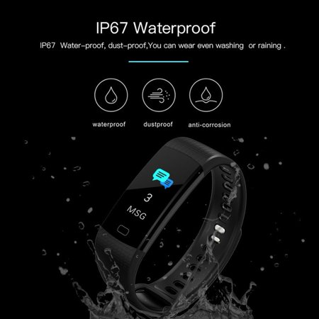 Fitness Tracker with Heart Rate Monitor Color Screen Waterproof Smart Watch Band Activity Tracker w/ Step Counter Pedometer Calorie Counter for Android iOS - image 10 of 13