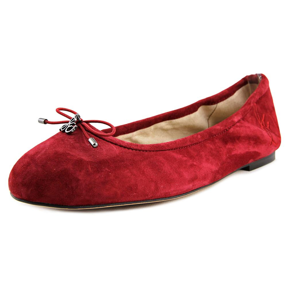 Sam Edelman Felicia Women  Round Toe Suede Red Ballet Flats