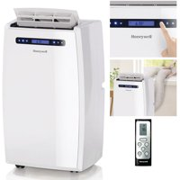 Honeywell MN Series Dual-Hose Portable Air Conditioner with Dehumidifier and Remote Control for a Room up to 700 Sq. Ft. (White)