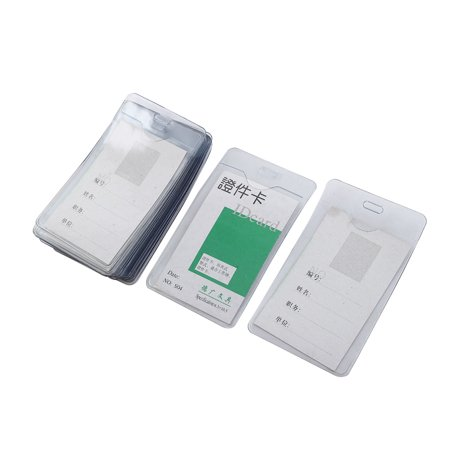 - Unique Bargains 20pcs Work Business Vertical Name Tag ID Badge Card Holder