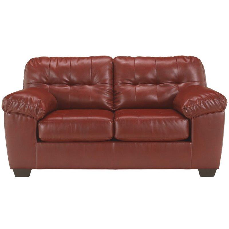 Flash Furniture DuraBlend Loveseat in Red