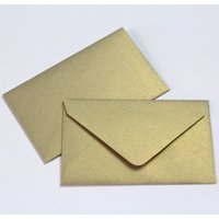 """Wedding Favor Envelopes Mini Envelopes for $1 State Lottery Tickets Gift Cards - Qty 25 - Metallic Gold- 2.5"""" x 4.25"""""""