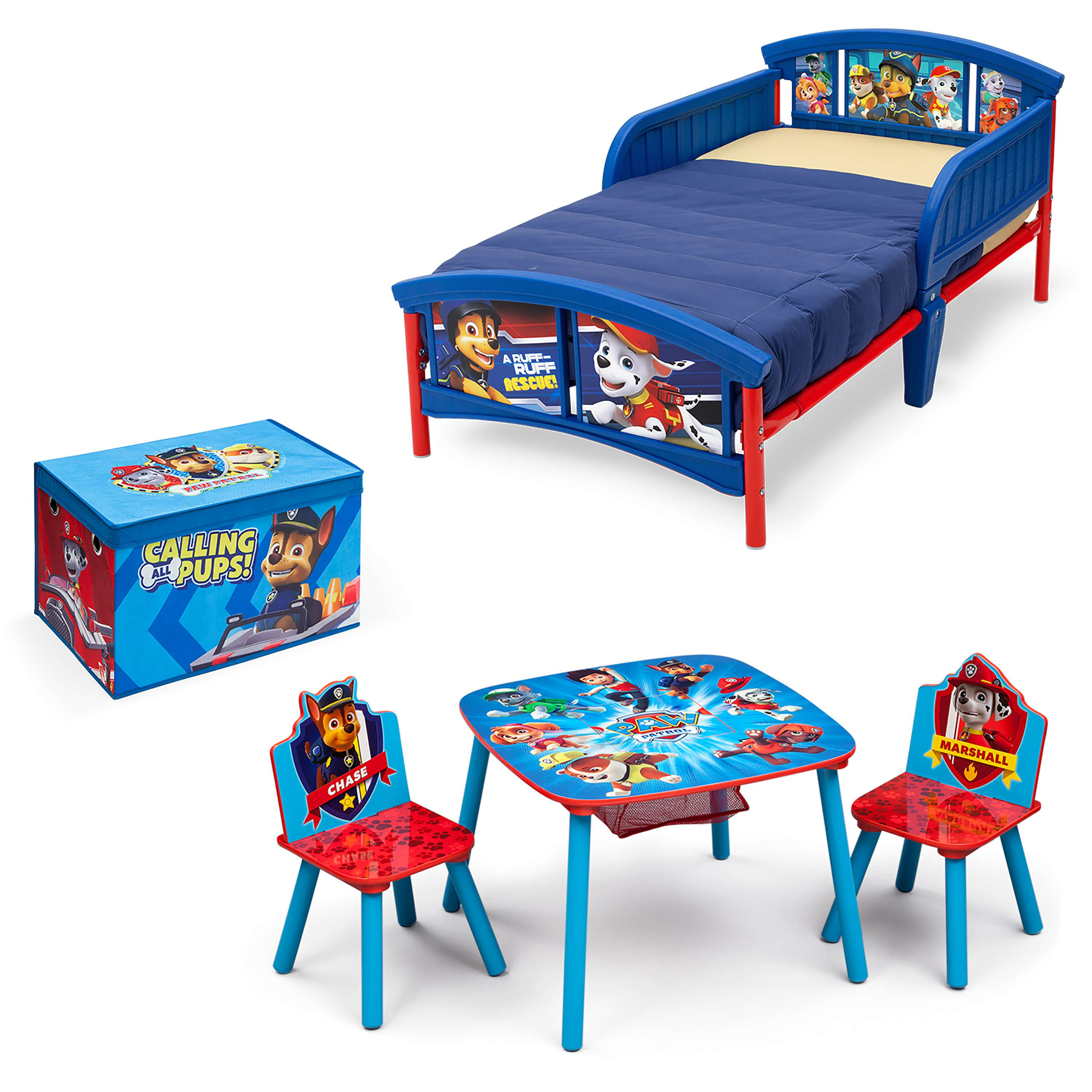 Nick Jr. PAW Patrol Room-in a Box with BONUS Table & Chairs Set