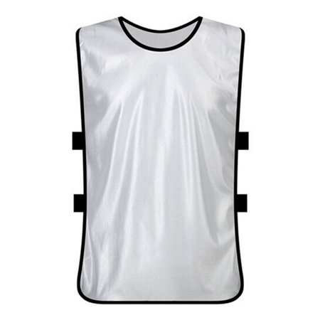 TopTie Training Vests, Football Jersey, Pinnies for Soccer Team, Multiple Colors and Quantities-White-Adult ()