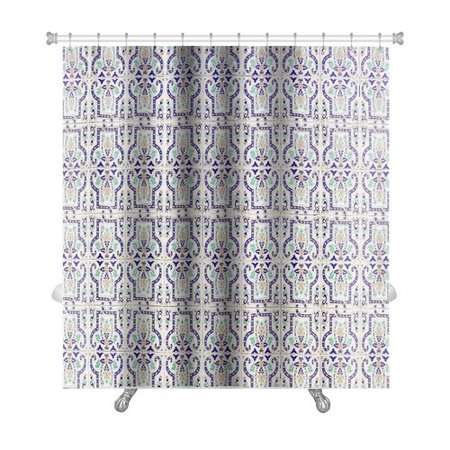 - Gear New Alpha Medieval Tiles with Traditional Islamic Pattern Decor Premium Single Shower Curtain