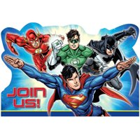 Justice League Invitations, 8pk
