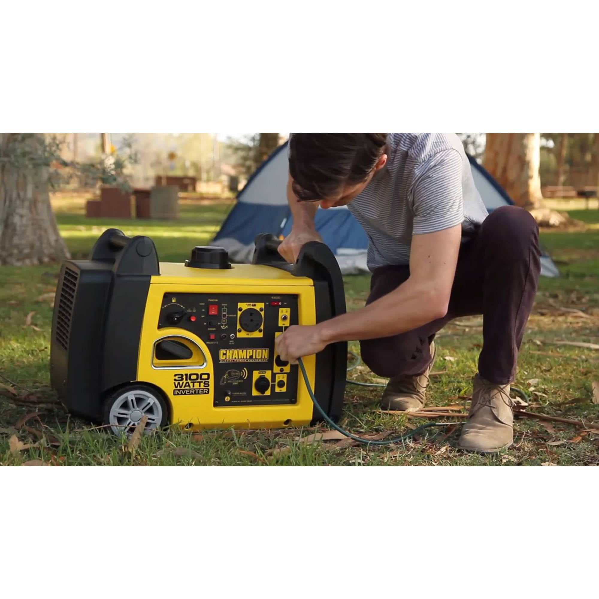 Champion 75537i 3100 Watt Rv Ready Portable Inverter Generator With Wireless Remote Start