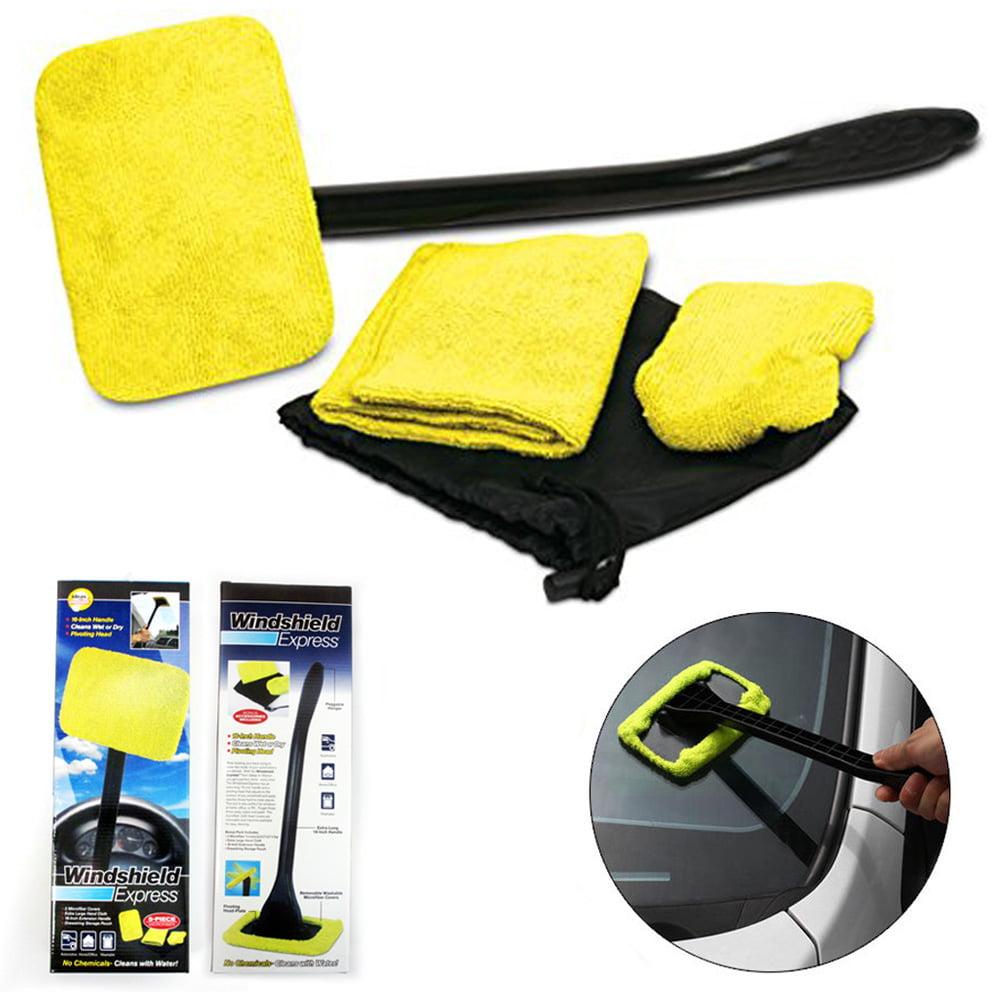 1 Microfiber Windshield Cleaner Glass Wiper Handle Easy Clean Car Shine Windows by HNZIG DLIPH