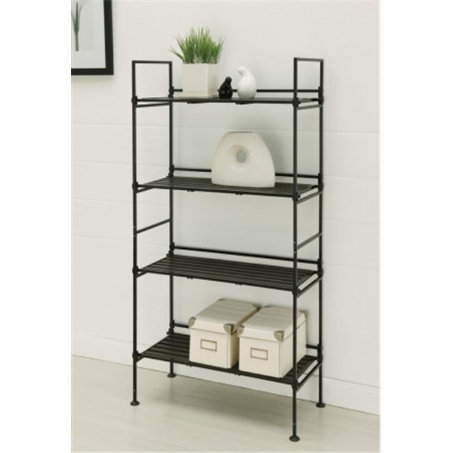 Neu Home 97204 25. 38'' x 11. 38'' x 45. 38'' 4 Tier Shelf - Black