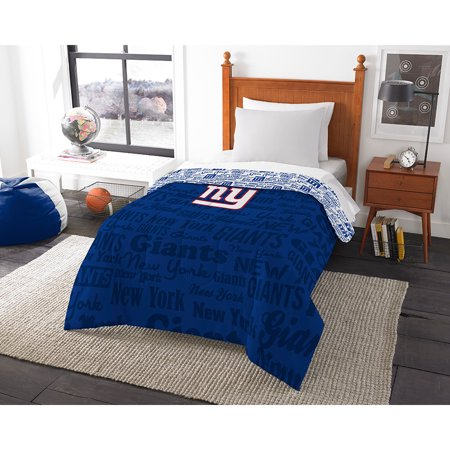 New York Giants NFL Twin Comforter (Anthem) (64 x 86) by