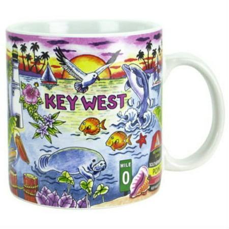 Florida State Seminoles Mug - Key West Florida Map Souvenir Collectible Large Coffee Mug 16oz