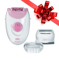 Braun Silk-epil 3 3270 Epilator with 3 extras including a shaver head and a trimmer cap ($5 Rebate Available)
