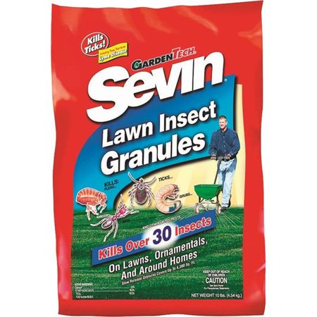 Gulfstream Home   Garden 4220844 Sevin Bug Killer  44  10 Lbs Bag  44  Dark Brown  44  Granular