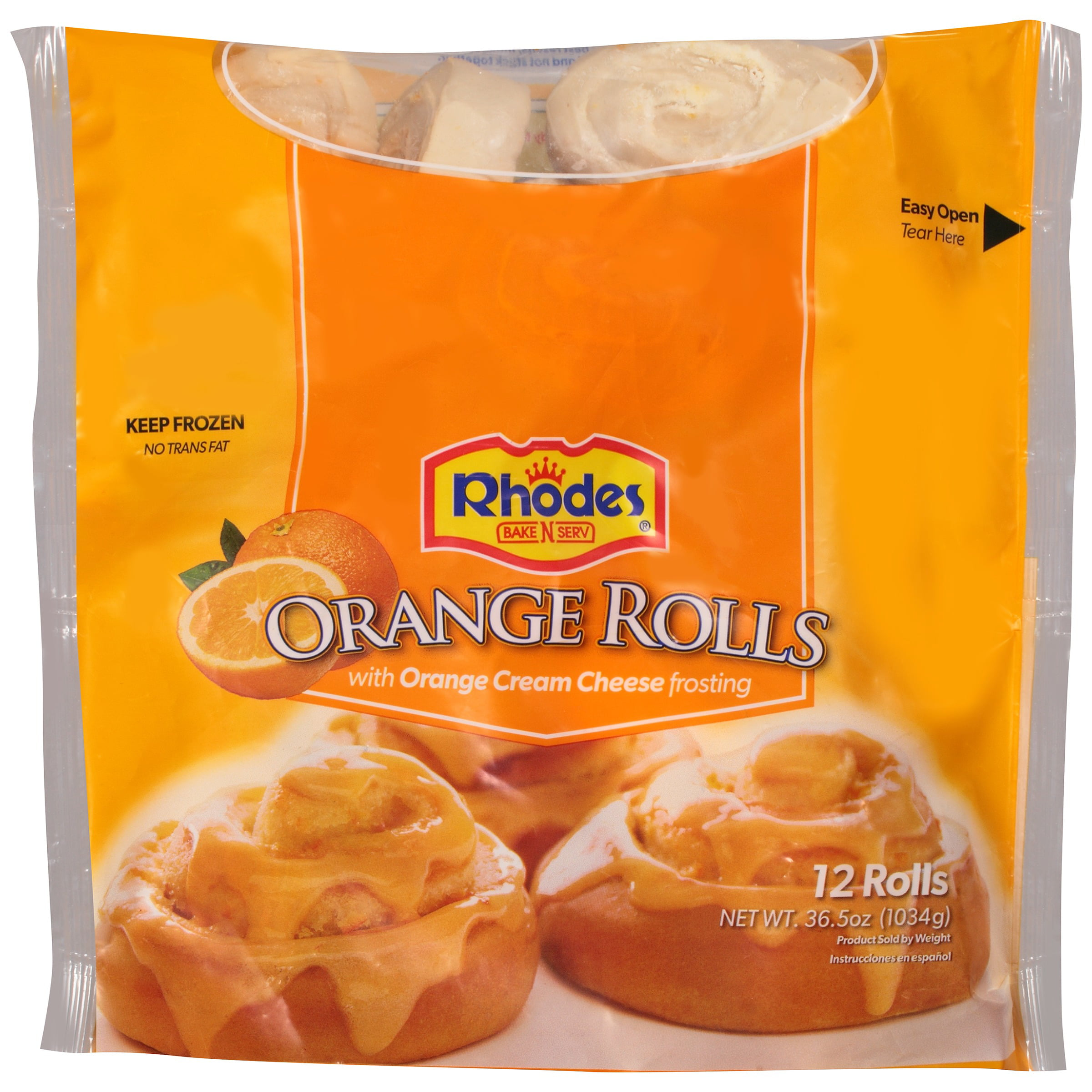 Rhodes Bake N Serv Orange Rolls With Orange Cream Cheese Frosting