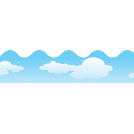 Frank Schaffer Publications/Carson Dellosa Publications Clouds Scalloped Classroom (Clouds Scalloped Border)