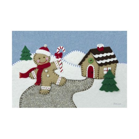 Gingerbread Print - Holiday Gingerbread Man Print Wall Art By Betz White