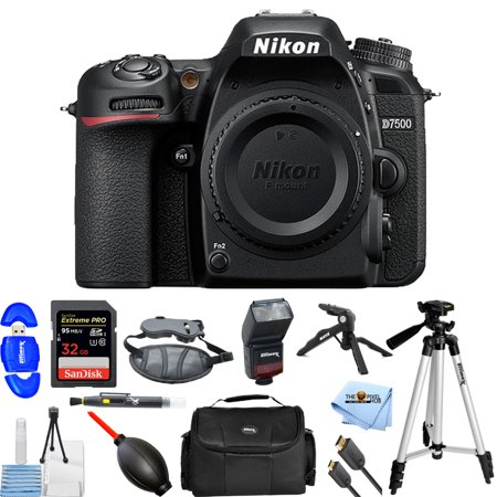 Pro Dslr Body (Nikon D7500 DSLR Camera (Body Only) #1581 PRO BUNDLE )