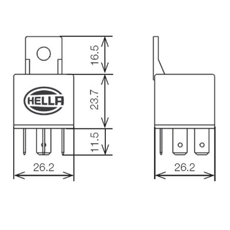 HELLA 933332161 24V 10/20A SPDT Mini ISO Relay with