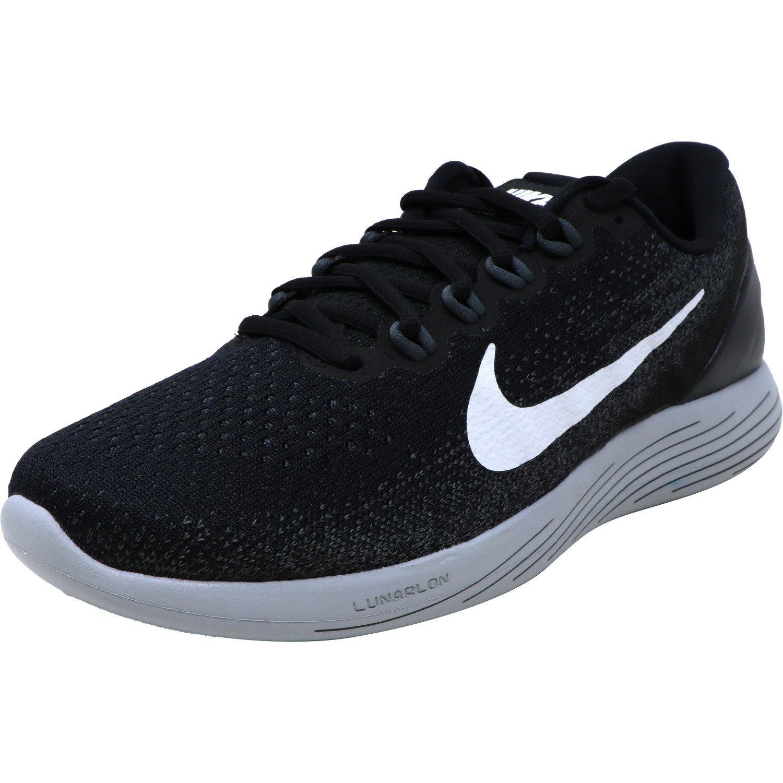 Nike Men's Lunarglide 9 Black White Dark Grey Ankle High