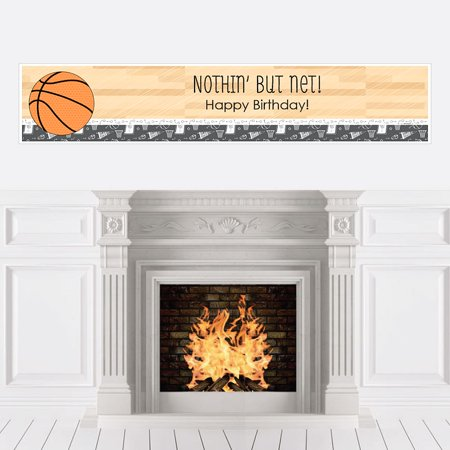 Nothin' But Net - Basketball - Party Decorations - Birthday Party Banner
