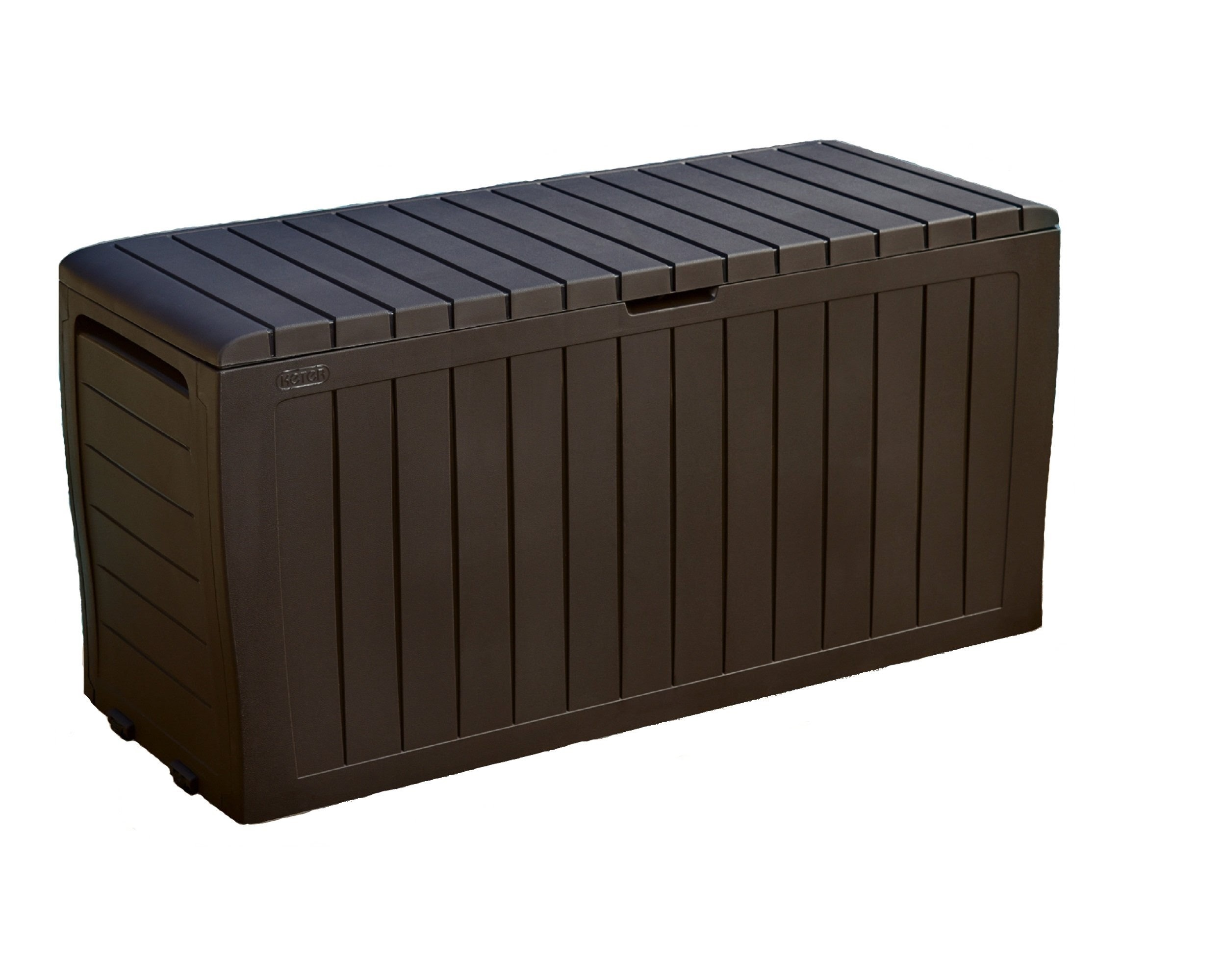 Product Image Keter Marvel Plus 71 Gallon Outdoor Storage Deck Box,  Espresso Brown