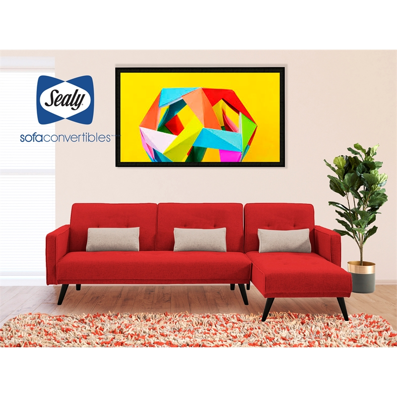 Jenna Sectional Convertible By Sealy