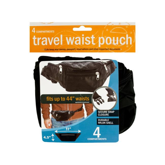 Bulk Buys OD840-12 Travel Waist Pouch