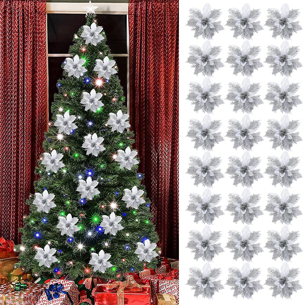 Coofit Christmas Poinsettia Fashion Lovely Christmas Tree Flowers Xmas Flower Ornaments Walmart Canada