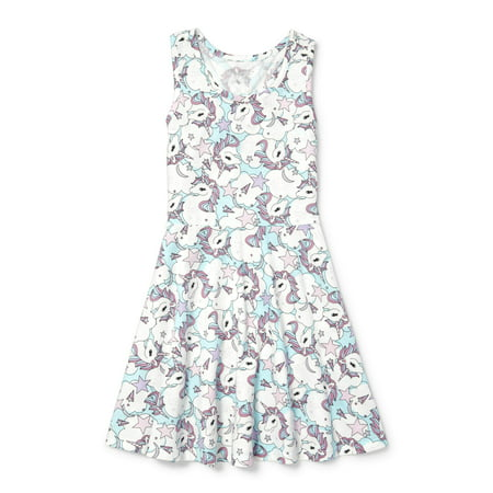 Sleeveless Printed Pleated Dress (Little Girls & Big Girls)
