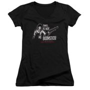 Mgm Army Of Darkness Boomstick Juniors V-Neck Shirt