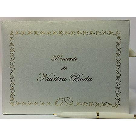 Nuestra Boda Spanish Wedding Signature Guest Book Reception Party