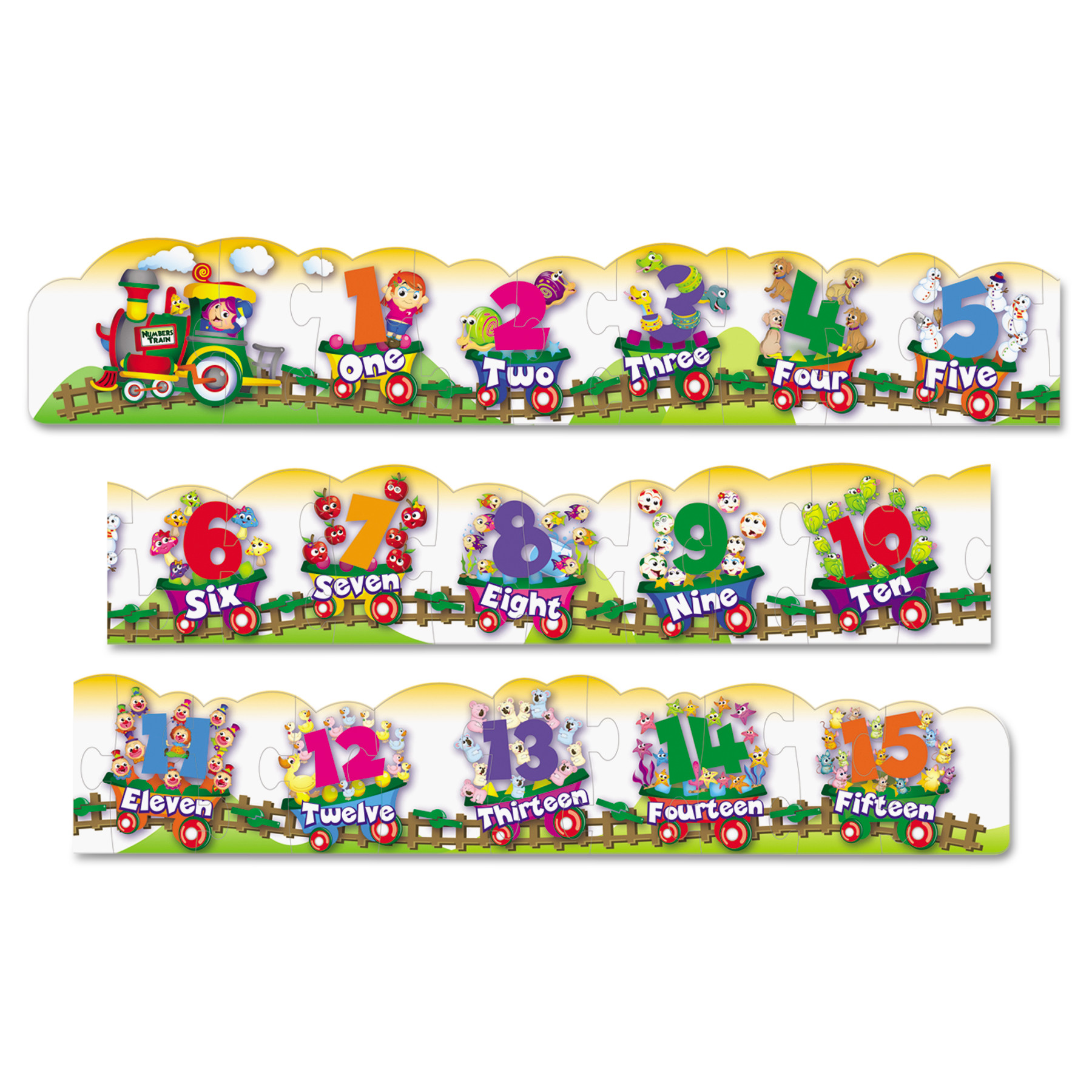 Creativity Street Number Train Floor Puzzle by THE CHENILLE KRAFT COMPANY