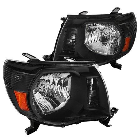 Spec-D Tuning For 2002-2011 Toyota Tacoma Crystal Headlights Jdm Black 2005 2006 2007 2008 2009 2010 2011 -