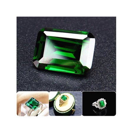 Cut Moissanite Stone - Natural Mined 11.58ct Green Loose Gemstone Emerald Colombia Emerald Cut AAAAAA+ Jewelry DIY Accessories