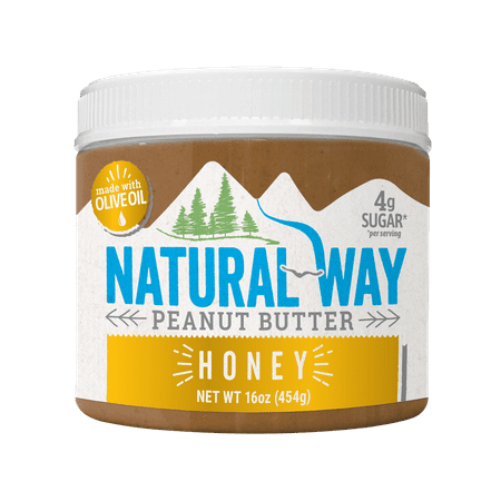 Natural Way Light Crunch Honey Peanut Butter Made with Olive Oil, 16 (Best Way To Soften Butter Fast)