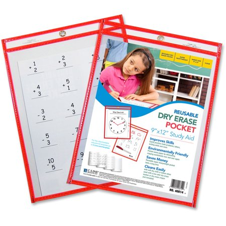 Reusable Dry Erase Pockets, 9