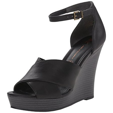 BC Footwear Womens Scenic Route Faux Leather Pumps Wedge Sandals
